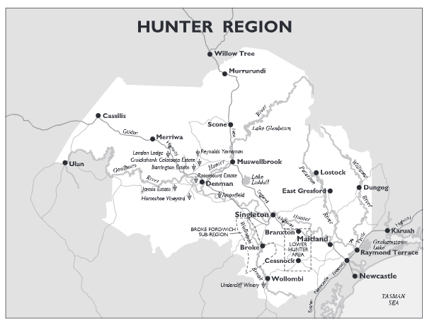 Hunter Valley Map